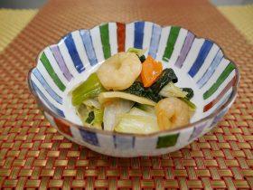 野菜と海老の旨煮