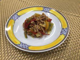 豚肉と野菜のレモン炒め